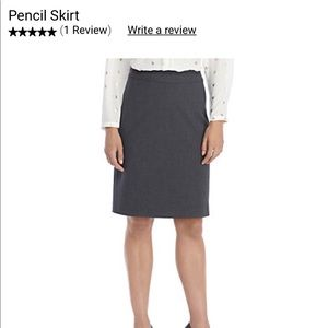 The Limited Stretch Gray Womens Career Skirt sz 14